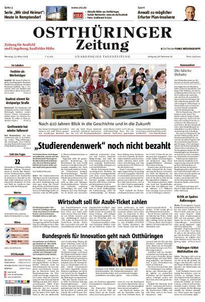 : Ostthueringer Zeitung Saalfeld 13 Maerz 2018