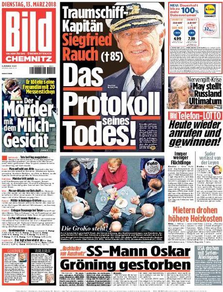 : Bild Zeitung Chemnitz 13 Maerz 2018