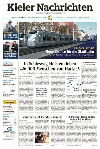 : Kieler Nachrichten Eckernfoerder Nachrichten 14 Maerz 2018