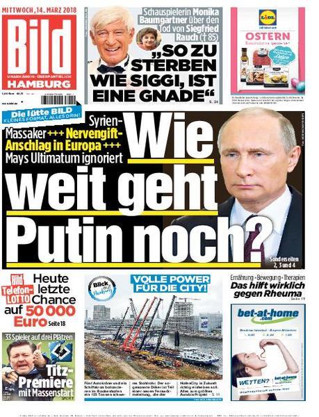 : Die kleine Bild Zeitung Zeitung Hamburg 14 Maerz 2018