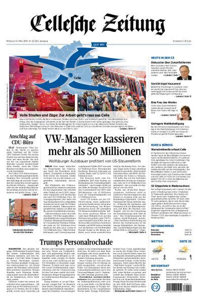 : Cellesche Zeitung 14 Maerz 2018