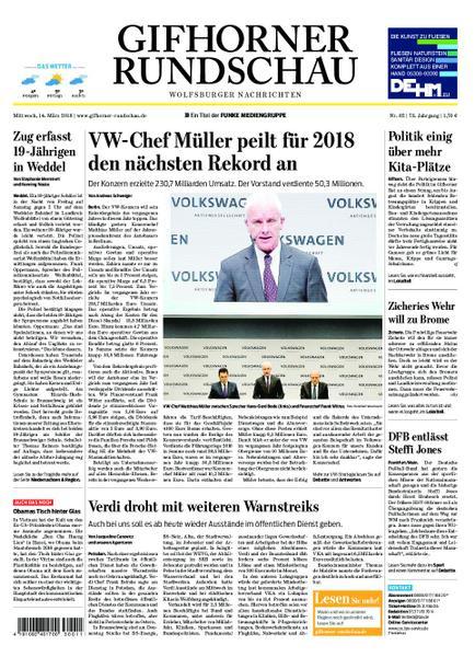 : Gifhorner Rundschau Wolfsburger Nachrichten 14 Maerz 2018
