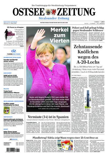 Ostsee Zeitung Traueranzeigen Stralsund