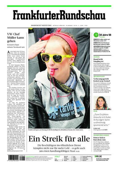 Frankfurter Rundschau Stadtausgabe 11 April 2018