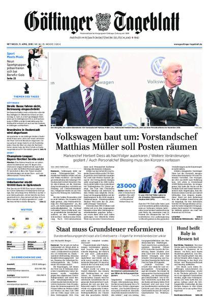 Goettinger Tageblatt 11 April 2018