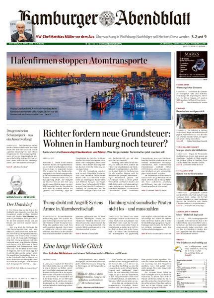 Hamburger Abendblatt Harburg Land 11 April 2018