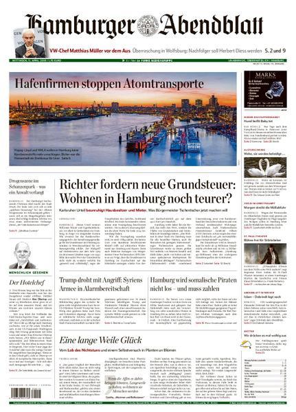 Hamburger Abendblatt 11 April 2018