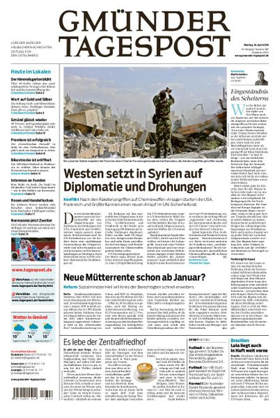 Gmuender Tagespost 16 April 2018