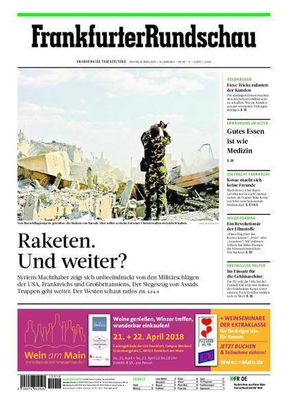 Frankfurter Rundschau Deutschland 16 April 2018