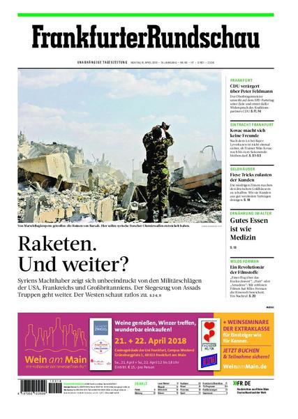 Frankfurter Rundschau Hochtaunus 16 April 2018