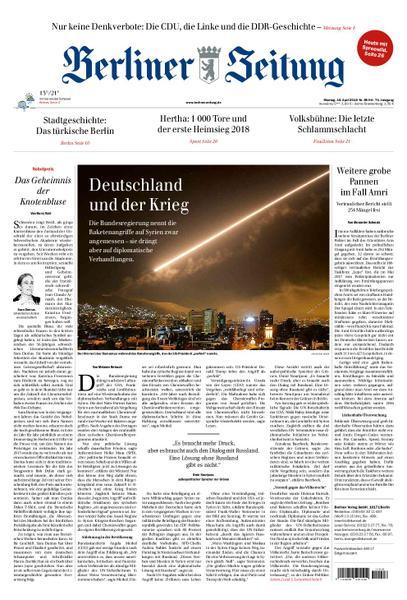 Berliner Zeitung 16 April 2018