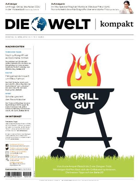 Die Welt Kompakt Hamburg 16 April 2018