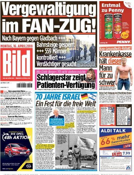Bild Zeitung 16 April 2018