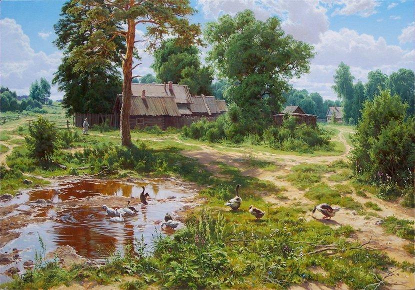 Творчество современного художника Сергея Басова