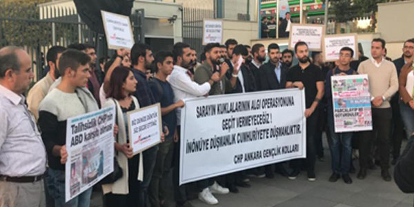CHP'li gençlerin protestosu