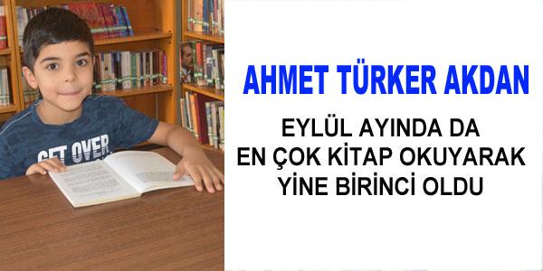 Ahmet Türker Akdan birinciliği kaptırmadı