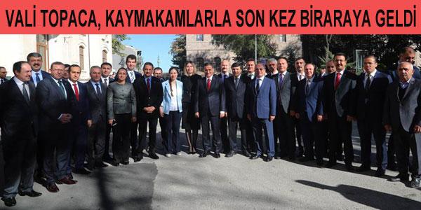 Vali Ercan Topaca veda etti