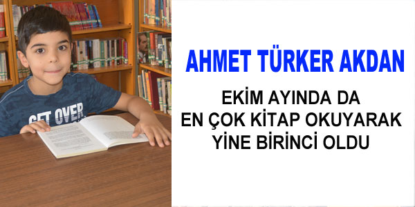 Birincilik yine Ahmet Türker Akdan'ın