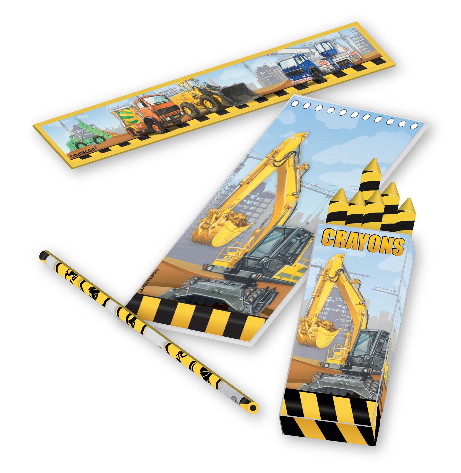 // Baustellen-Party Construction Stationary Favor Set 998336--