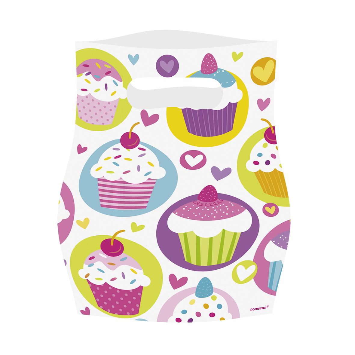 // Cupcake Partytüten 6er-Pack 997215--