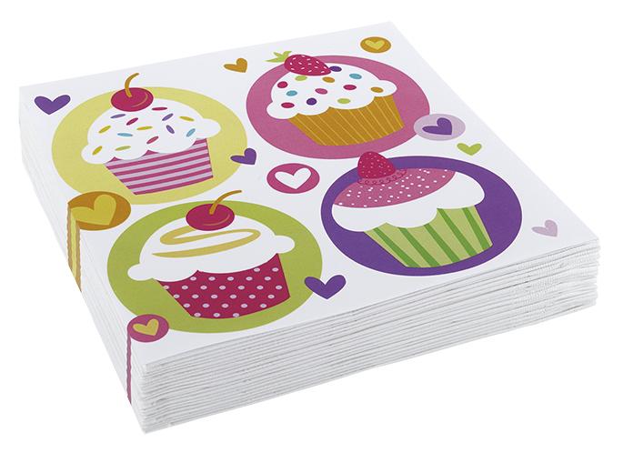 // Cupcake-Party 20 Servietten 997212