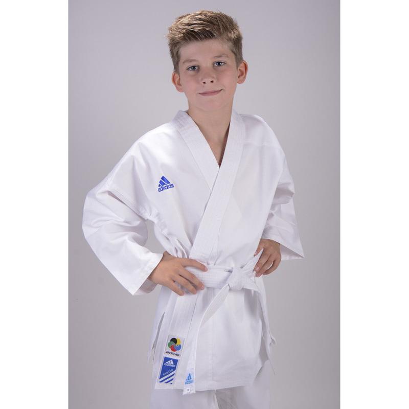 kinder adidas karate anzug k220 club wei gr 110 160. Black Bedroom Furniture Sets. Home Design Ideas