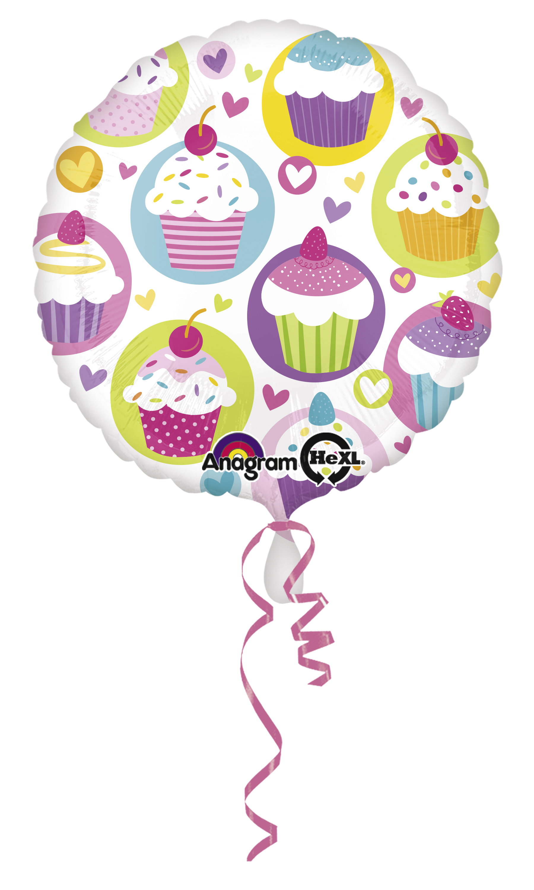 // Cupcake-Party Folienballon Cupcake klein 2930401