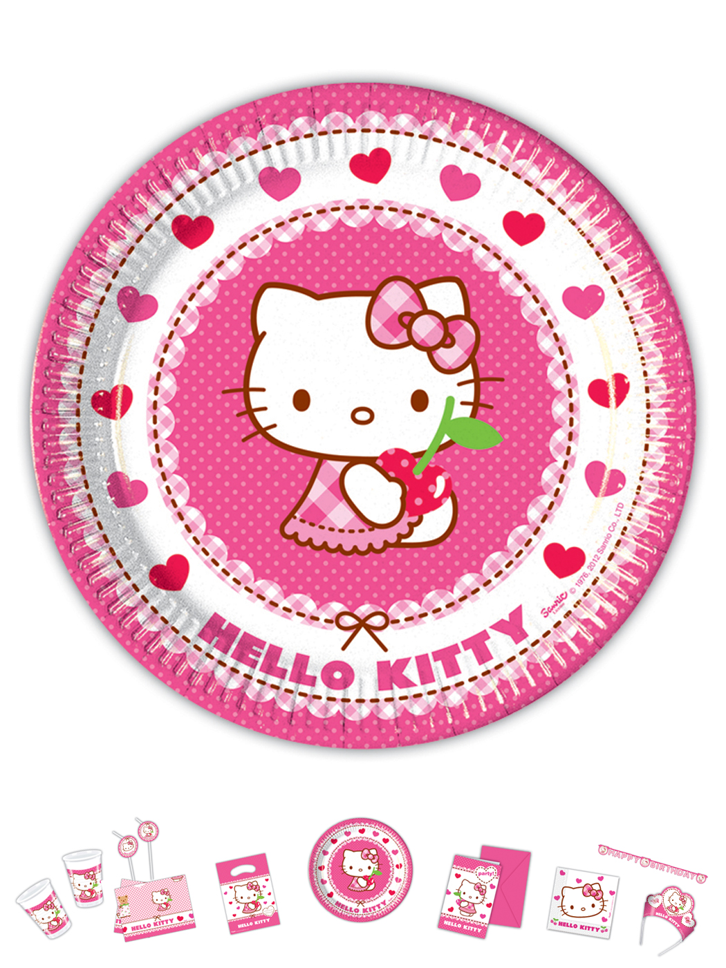 Hello Kitty Motiv Herz 8 Teller P81791--