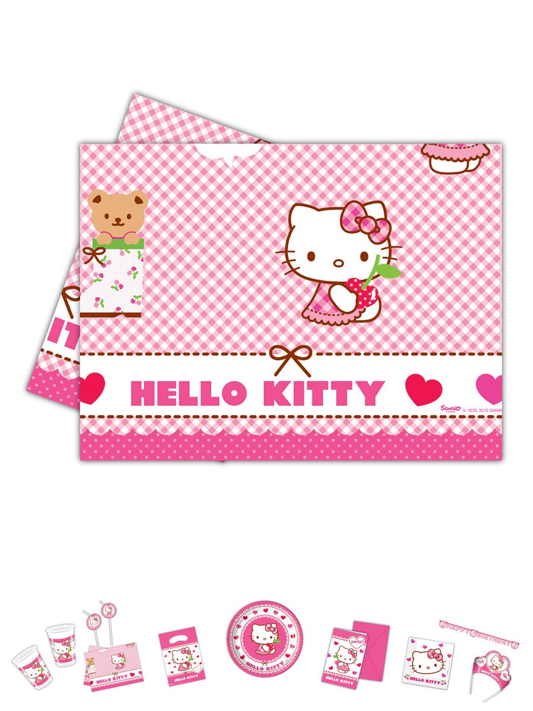 Hello Kitty Plastik Tischdecke 1Stck. P81795--