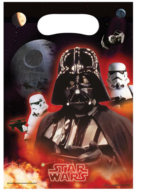 """Star Wars """"Heroes"""" Partytüten, 6 Stück, P84396--"""