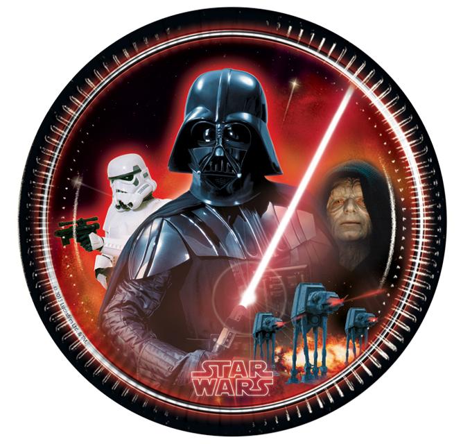 Star Wars Teller Darth Vader, 8 Stück, P84466