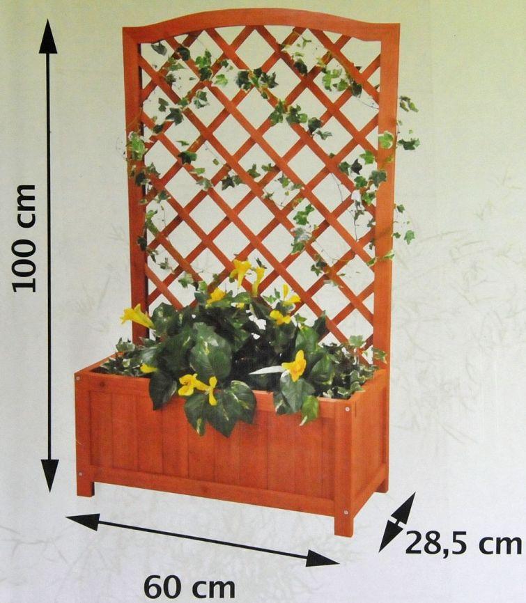 pflanztrog mit rankhilfe holz blumenkasten. Black Bedroom Furniture Sets. Home Design Ideas