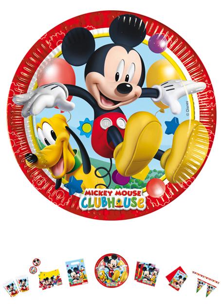 Mickey Mouse Teller, 8 Stück, P81508