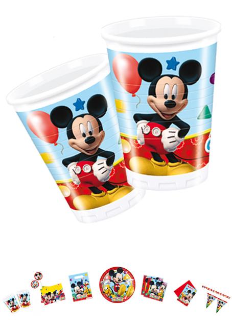 Mickey Mouse Becher, 8 Stück, P81509
