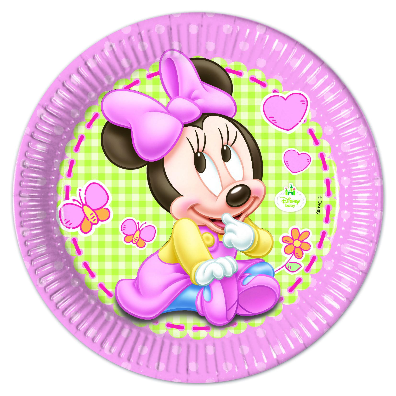 Baby Minnie Teller, 8 Stück, P84349