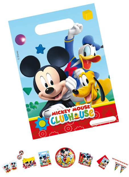 Mickey Mouse Partytüten, 6 Stück, p81512