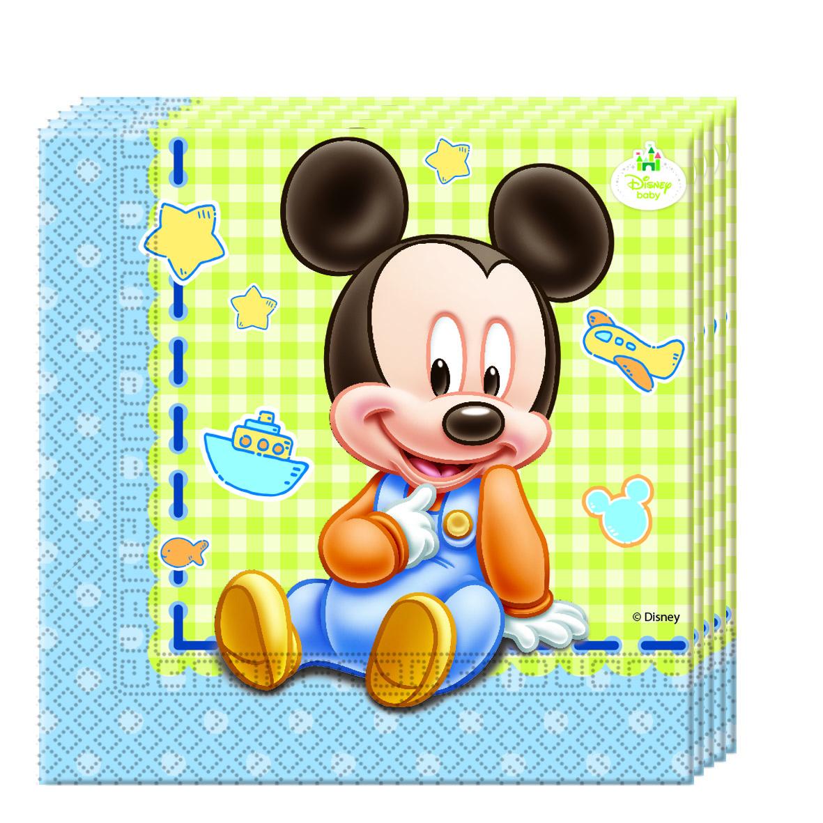Baby Mickey Servietten, 20 Stück, P84347