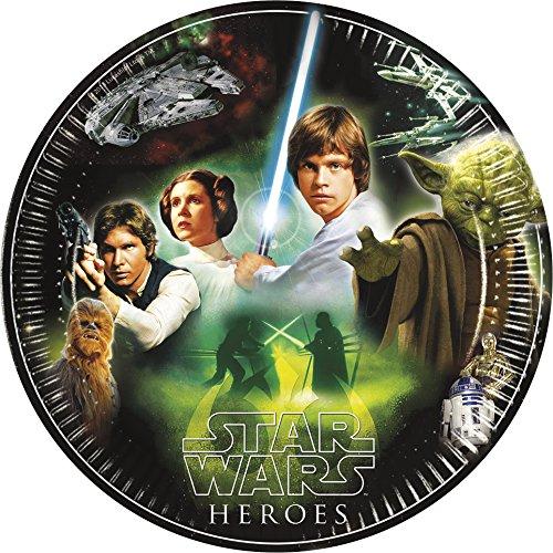 "Star Wars ""Heroes"" Teller, 8 Stück, P84283--"