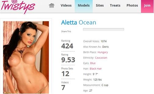 Twistys Aletta Ocean Siterip (720p) Cover