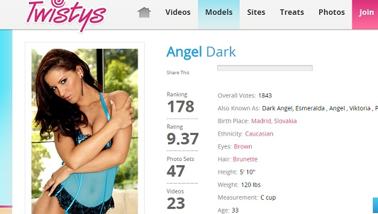 Twistys Angel Dark Siterip (720p) Cover
