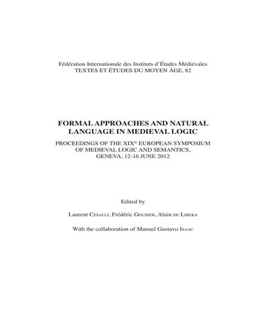 : Formal Approaches and Natural Language in Medieval Logic