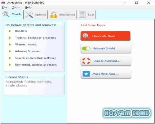 لحماية حاسوبك من الهكر والمتطفلين وملفات التجسس UnHackMe 9.60 Build 660 Final bhziso5i.png