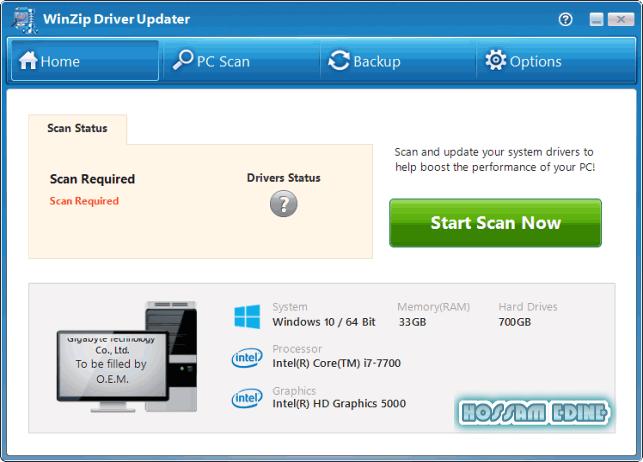 للبحث عن التعاريف الناقصه وأستكمالها وتحديثها Winzip Driver Updater 5.25.6.2 Final uyv9rx38.png