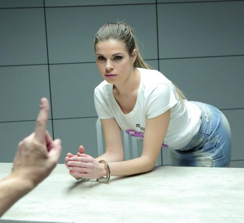 Sarah Smith - Sexy Blonde is Fucked in an Interrogation Room (HD)